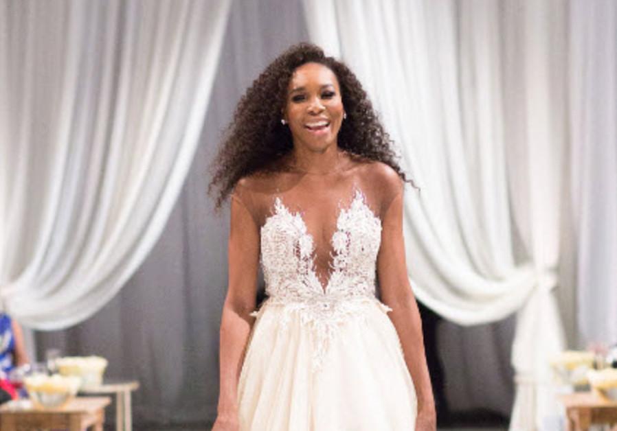 Venus Williams wearing Israeli designer Galia Lahav at her sister Serena's wedding. (Photo courtesy PR)