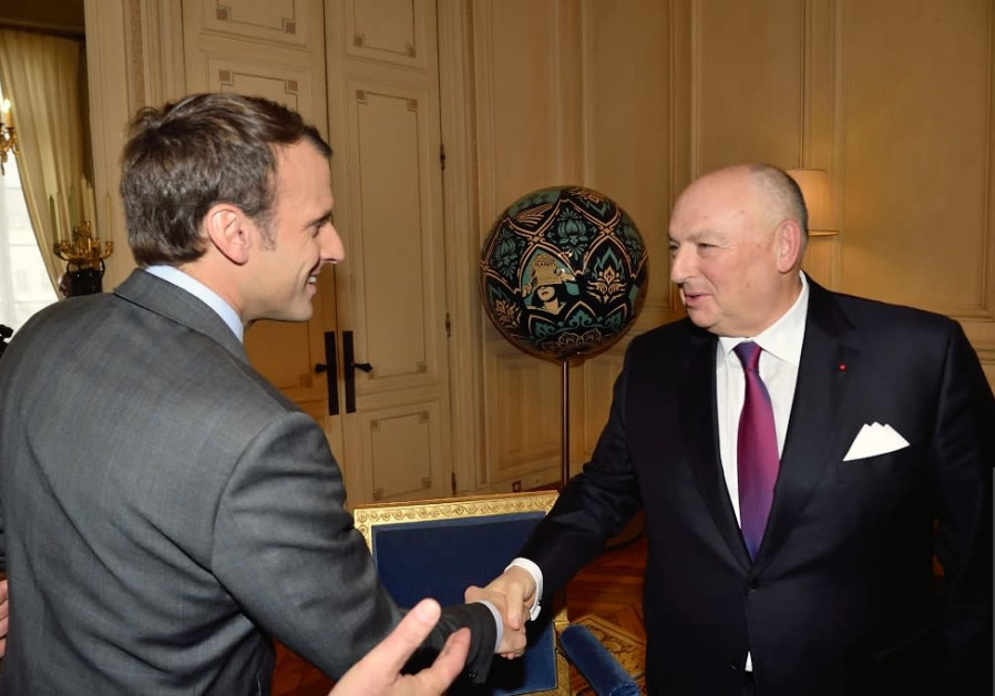 President Emmanuel Macron meets EJC President Dr. Moshe Kantor in Paris, November 2017