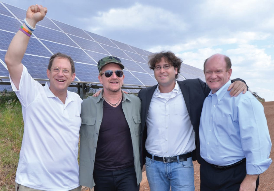 ISRAELI ENTREPRENEUR Yosef Abramowitz (left), whose company is poised to invest $2b. in wind, hydro