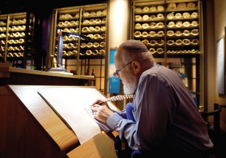 Ritual scribe from Beit Shemesh featured in the Washington Bible Museum