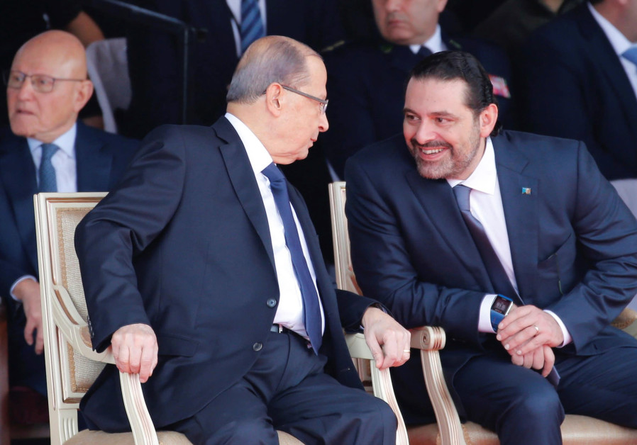 Saad al-Hariri talks with Lebanese President Michel Aoun
