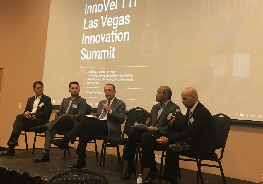 Right to left: Rom Hendler - InnoVel Founder/Managing Partner , Ramesh Srinivasan - CEO, Agilysys ,