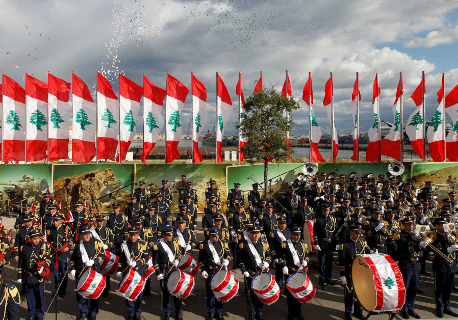 A military parade celebrates the 74th anniversary of Lebanon's independence in Beirut, Lebanon
