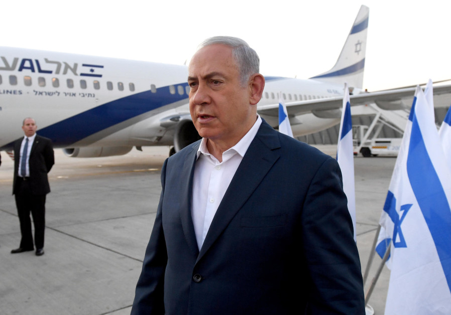 Prime Minister Benajmin Netanyahu boards flight to Kenya