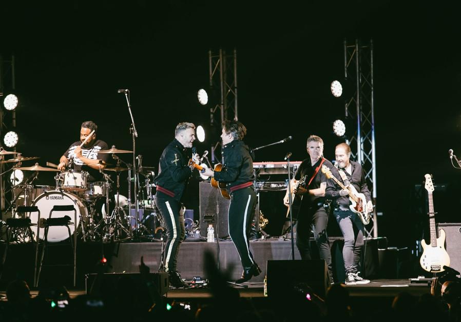 Take That perform at Tel Aviv's Menora Mitvachim Arena, November 27, 2017
