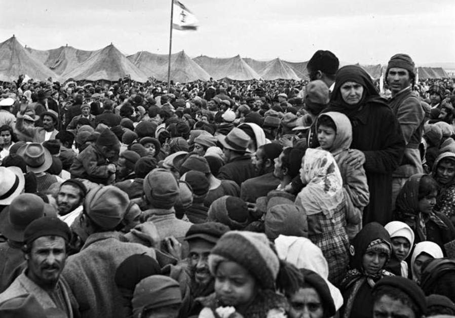 Yemenite Jews in Ma'abarot (Absorption Camp) Rosh Ha-Ayin in 1949