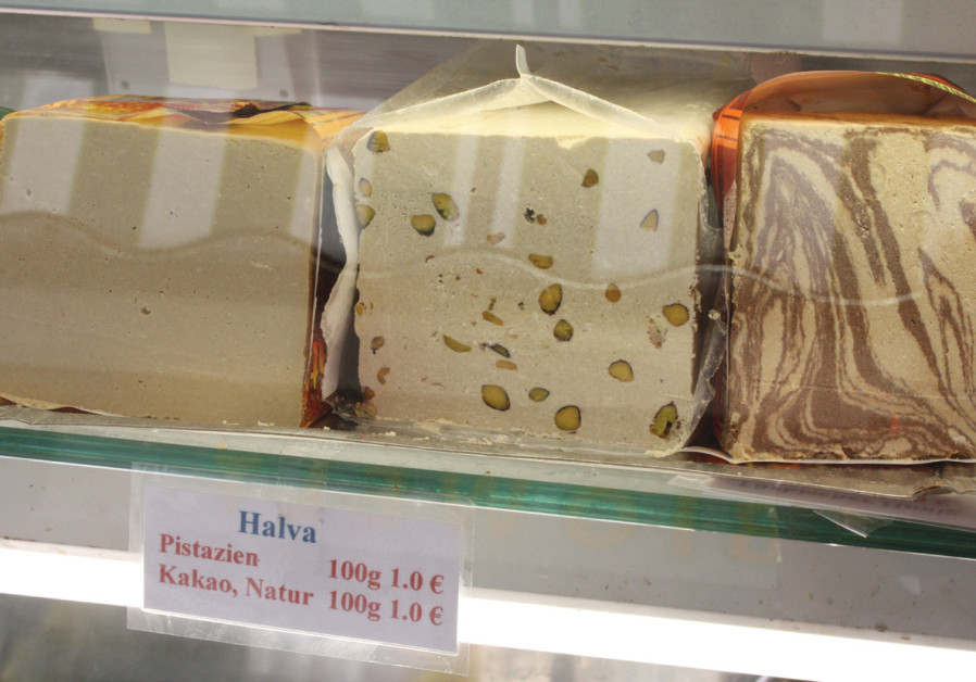Tehina-based halva is always Israel's base of choice.