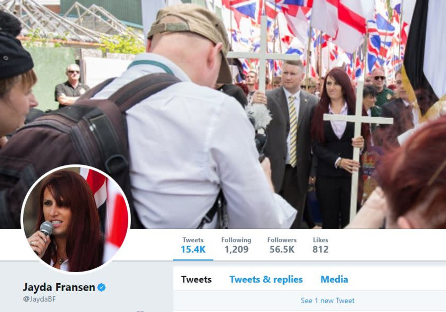 Britain First leader Jayda Fransen's Twitter page