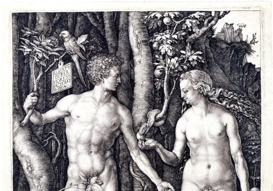 ALBRECHT DÜRER'S engraving of Adam and Eve from 1504.