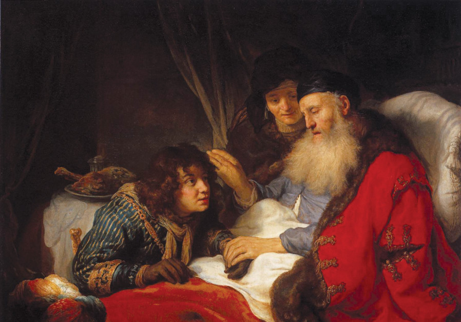 AN ELDERLY Isaac blesses Jacob with Rebekah in the background in this 1638 painting by Dutch artist