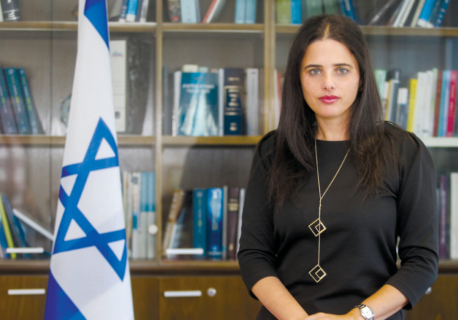 AYELET SHAKED – disappointed there hasn't been more building in settlements