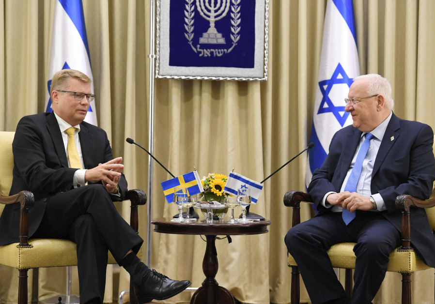 Sweden seeks to put a better face on ties with Israel, envoy says