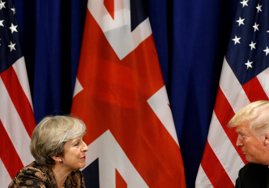 US President Donald Trump meets with British Prime Minister Theresa May during the UN General Assemb