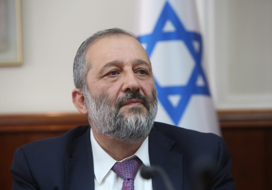 Shas party leader Arye Deri