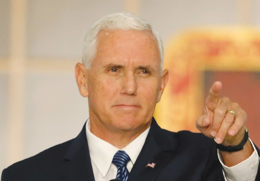 US Vice President Mike Pence speaks to a crowd in Florida in August. Pence will be visiting Israel a