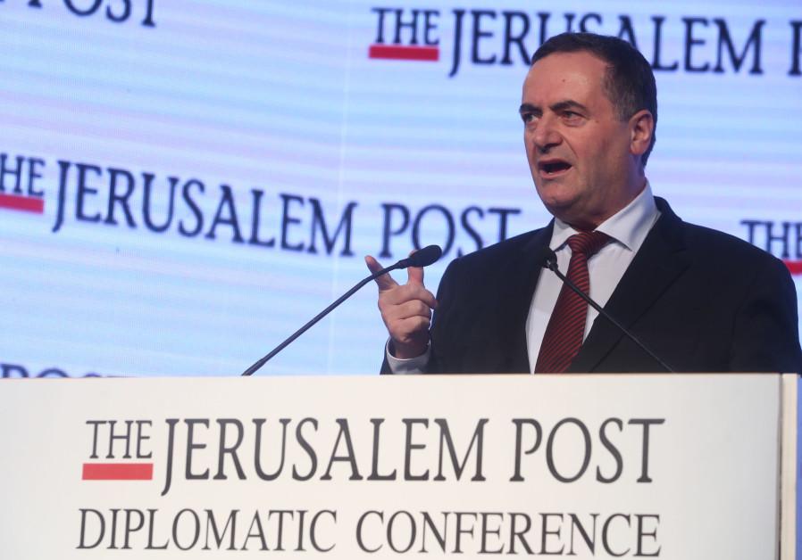 Israel Katz speaks at The Jerusalem Post Diplomatic Conference