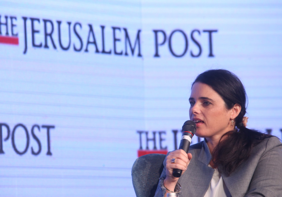Justice Minister Ayelet Shaked speaks at the Jerusalem Post Diplomatic Conference