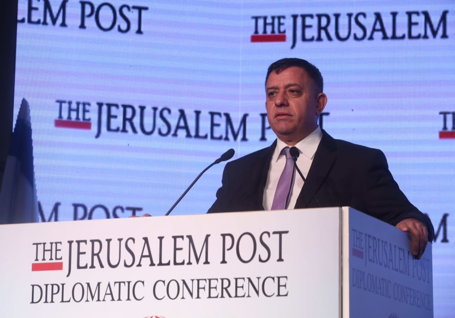 Avi Gabbau speaks at the Jerusalem Post Diplomatic Conference