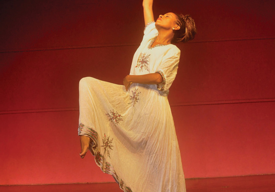 Dege Feder presents her solo dance piece as part of the Hullegeb Israeli-Ethiopian Arts Festival in