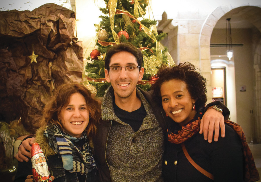 different traditions: Open Holidays co-founders (from left) Inbal Halperin, Nir Cohen an