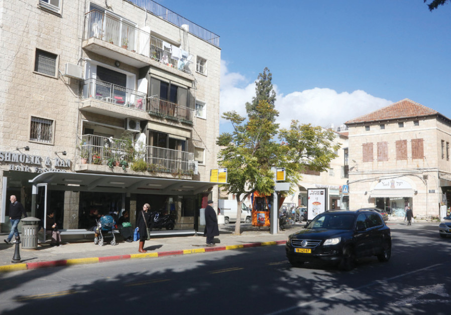 Though the light rail's Blue Line has been approved, and the fate of its 1.1-kilometer segment on Emek Refaim Street (pictured)  has been decided. (Marc Israel Sellem
