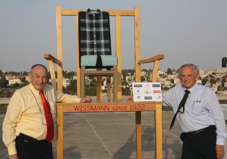 (L-R) Arie Wissman, Chairman of the Boards; Nachum Wissman, President