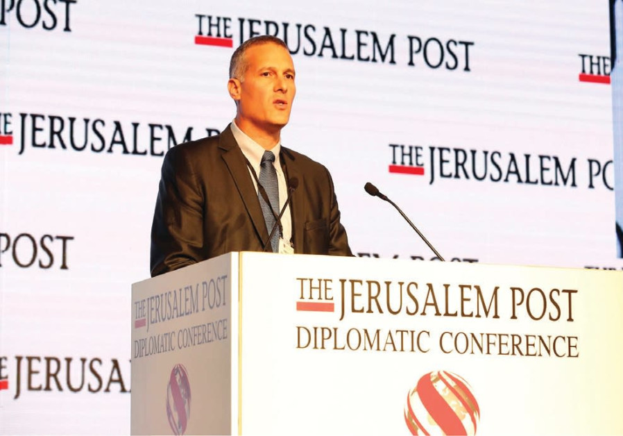 PLURISTEM CO-CEO Yaky Yanay speaks at the Jerusalem Post Diplomatic Conference in the capital's Wald