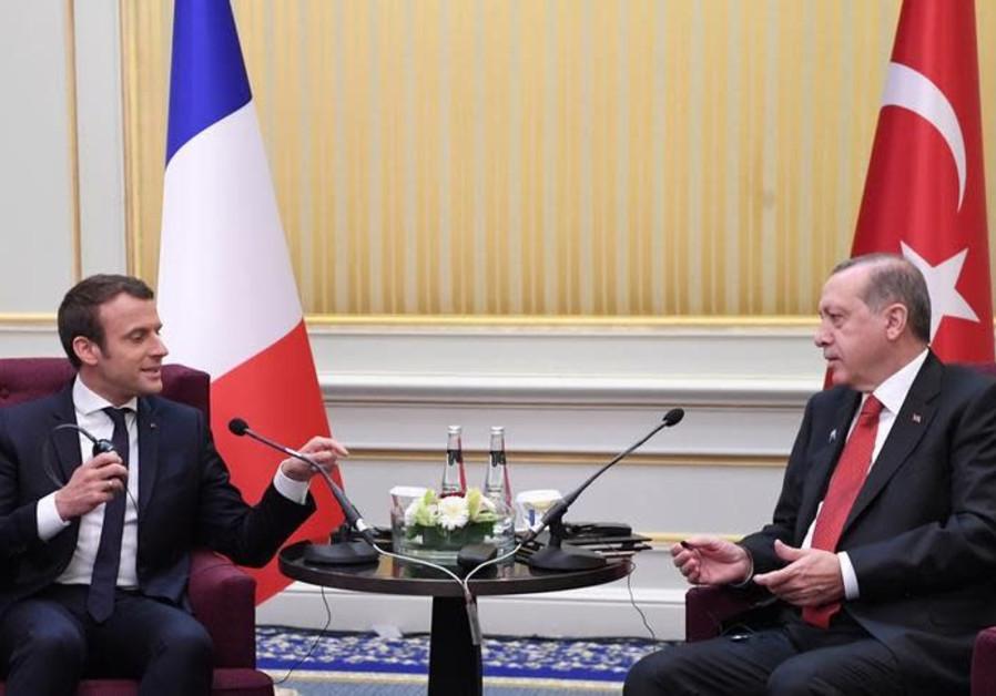 Erdogan and Macron to urge US to reverse Jerusalem decision