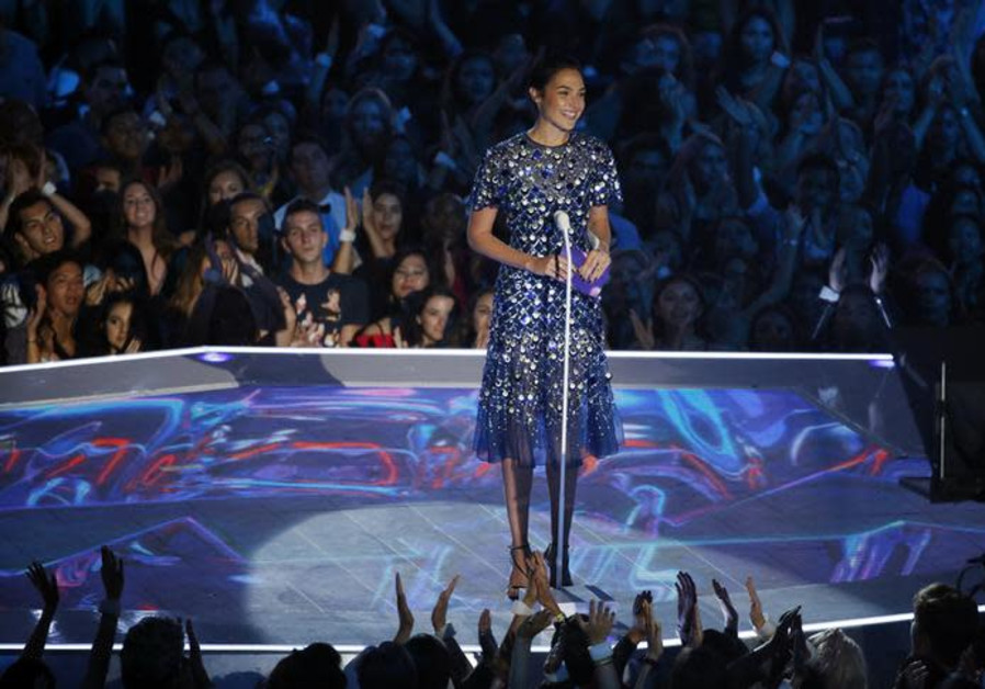 Gal Gadot presents the Video of the Year Award at the 2017 MTV Video Music Awards