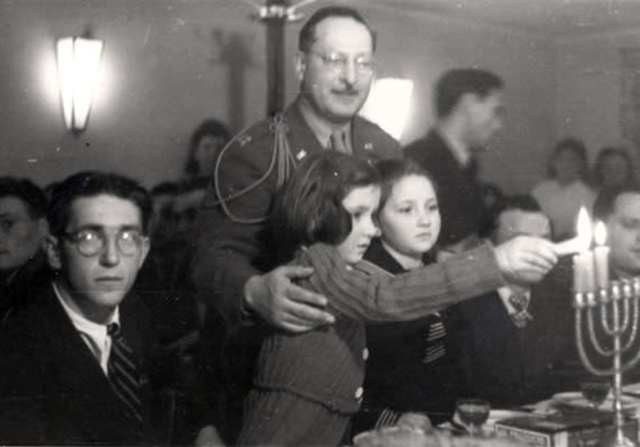 Hanukka in Fuerstenfeldbruck DP Camp, Germany, 1945