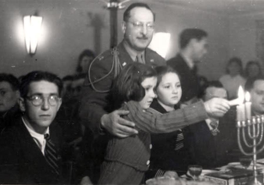 Hanukka in Fuerstenfeldbruck DP Camp, Germany, 1945