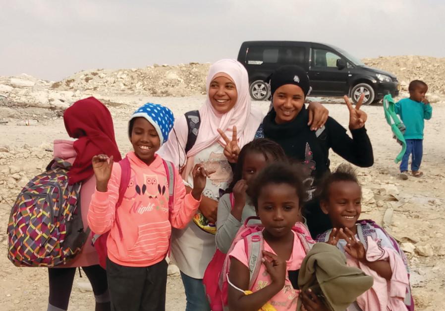 Children in the unrecognized village of Wadi al-Na'am