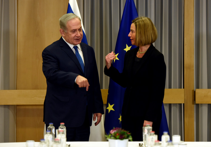 EU foreign policy chief Federica Mogherini meets with Israeli Prime Minister Benjamin Netanyahu