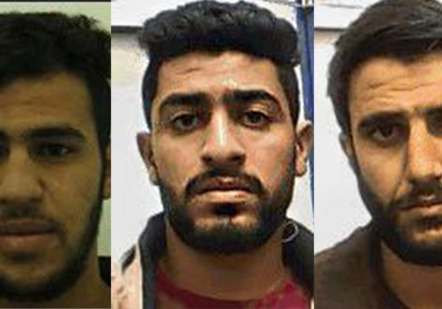 Three suspects of a Hamas terror cell arrested by the Shin Bet (Israel Security Agency) on suspicion
