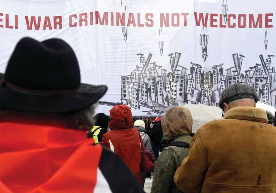 PEOPLE PROTEST in Brussels earlier this week