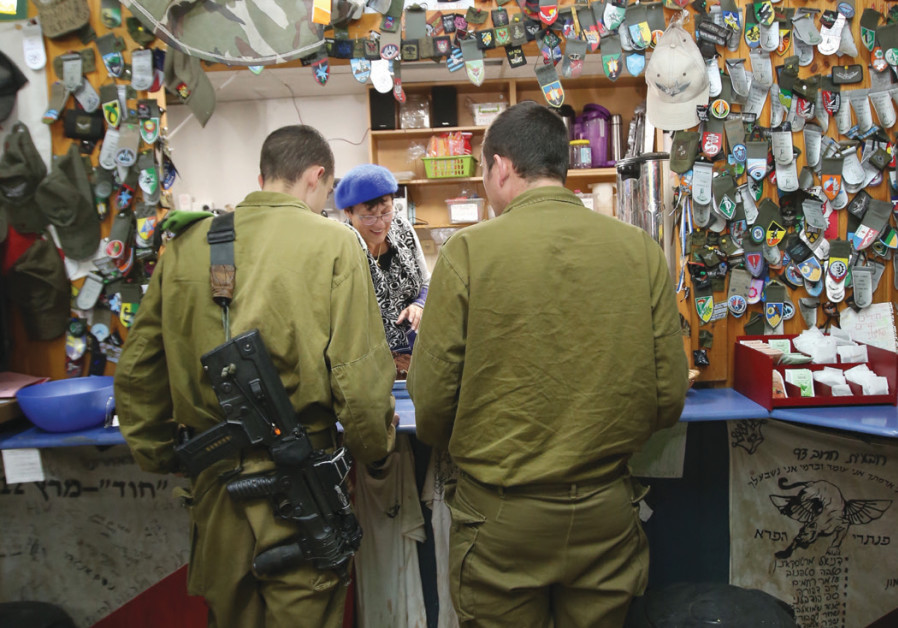 Pina Hama, a refreshment and break station for soldiers at the Gush Etzion junction, is staffed by v