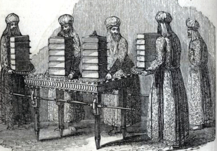 Showbread, in this illustration from an 1871 Bible
