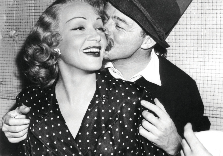 Director Wilder with Marlene Dietrich, star of his 1948 romantic comedy 'A Foreign Affair.