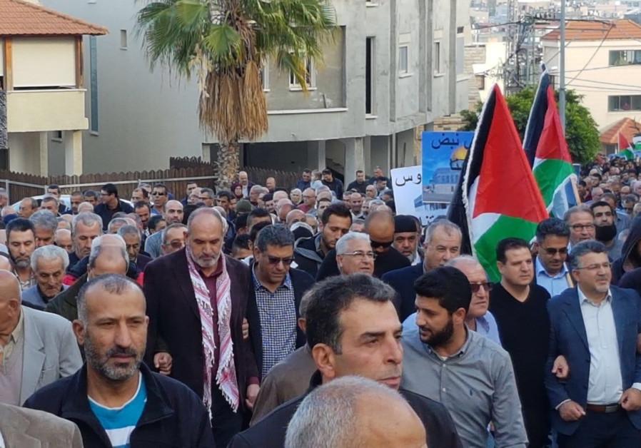 Thousands of Israeli Arabs protest Trump's Jerusalem decision