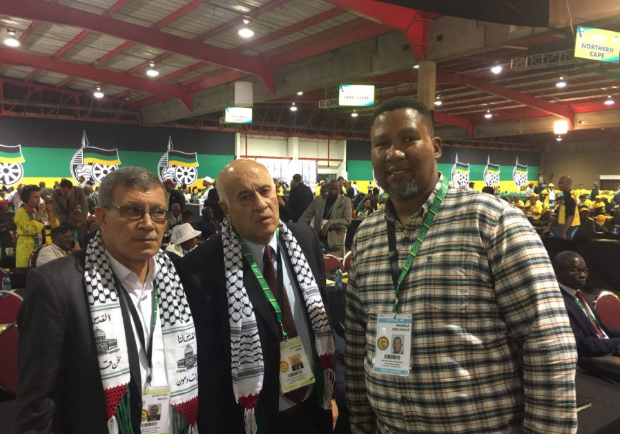 Palestinian delegation cozies up to S. African ruling party at conference