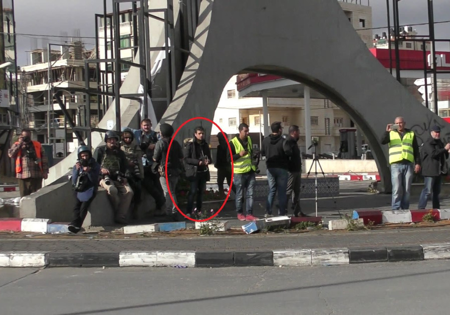 Mohammed Aqal seen with group of foreign journalists before carrying out stabbing attack