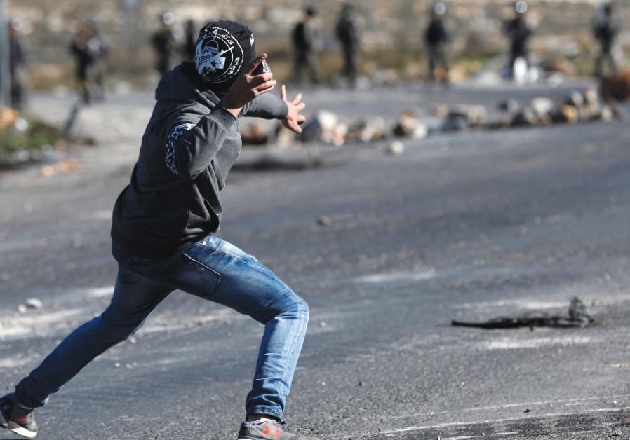 'TERRORISTS LOB rocks more than two-dozen times per day at Israeli vehicles driving on Highway 60, t