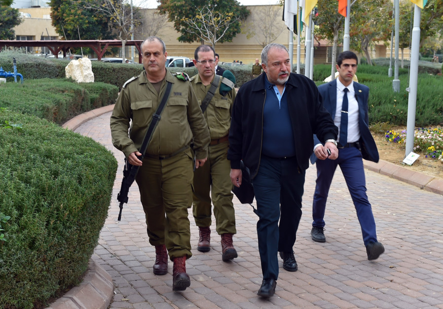 Defense Minister Avigdor Liberman tours southern communities who have been experiencing rocket fire