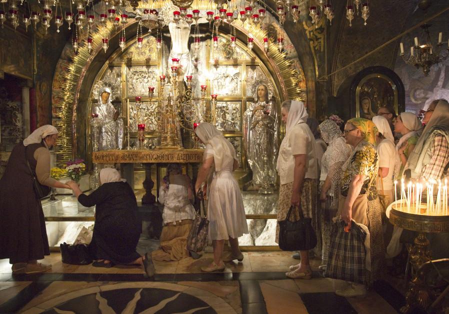 Eastern Orthodox pilgrims in Jerusalem