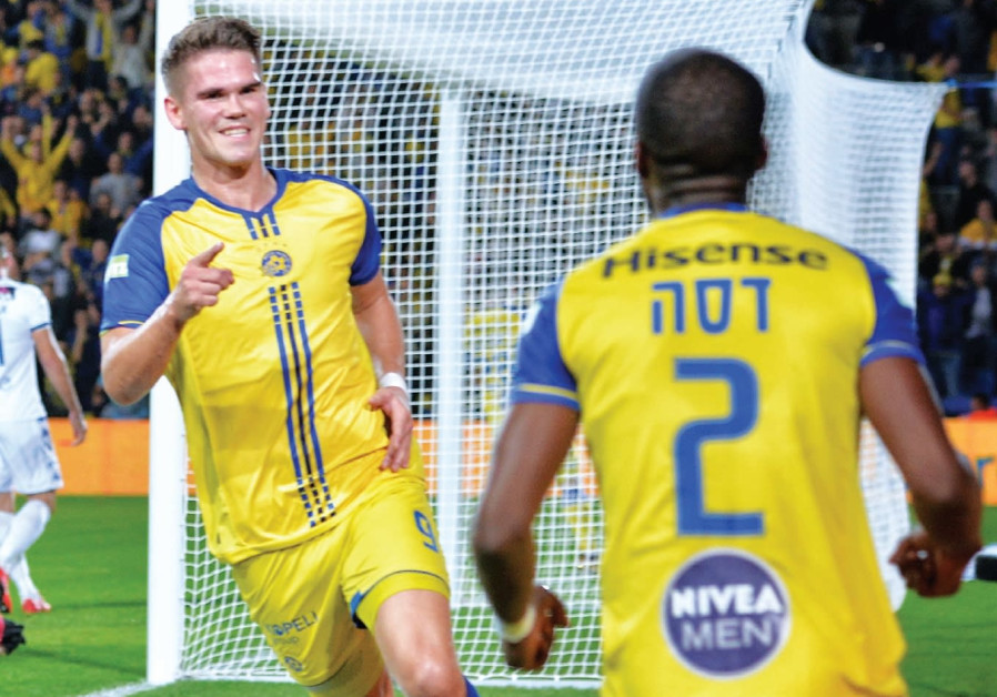 Maccabi Tel Aviv's Vidar Orn Kjartansson