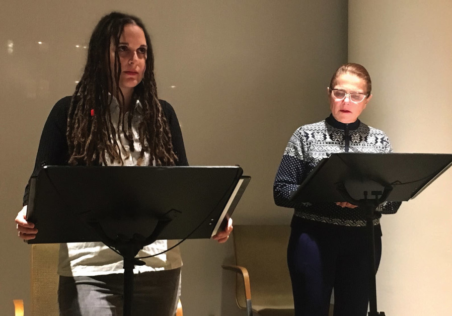 Israeli actress Chen Drachman (left) stages a reading of her script 'Ruth's' at the JCC in Manhattan