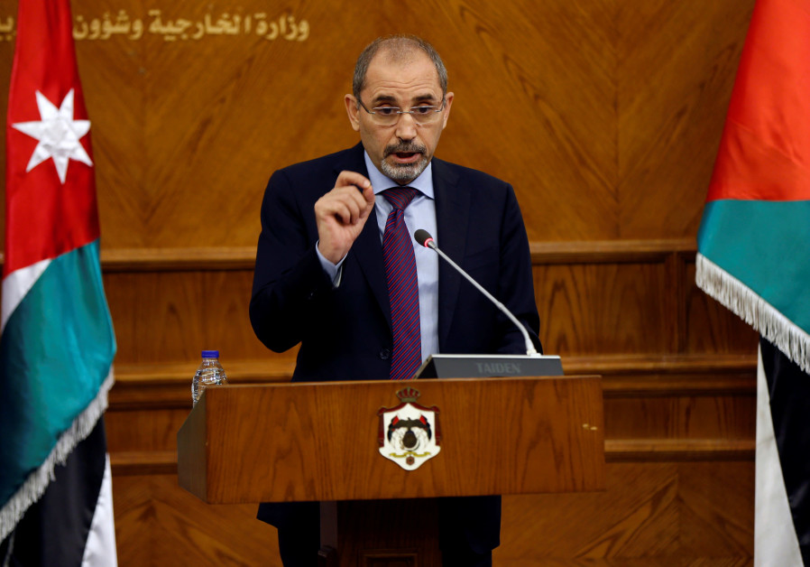 DATE IMPORTED: May 14, 2017 Jordan's Foreign Minister Ayman Safadi speaks during a joint news confer