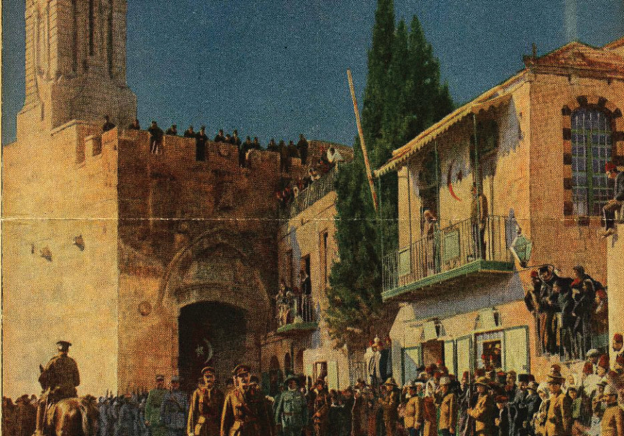 A report on the historic entry of Field Marshall Edmund Allenby to Jerusalem on December 11, 1917