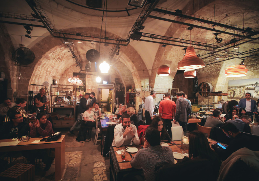 A scene at a Haifa restaurant during the Third Arab Food Festival