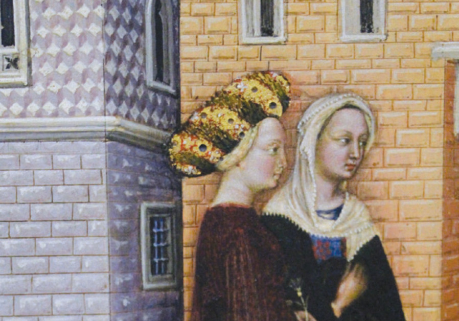 'Two Gentilas' (from a painting by Gentile Bellini)